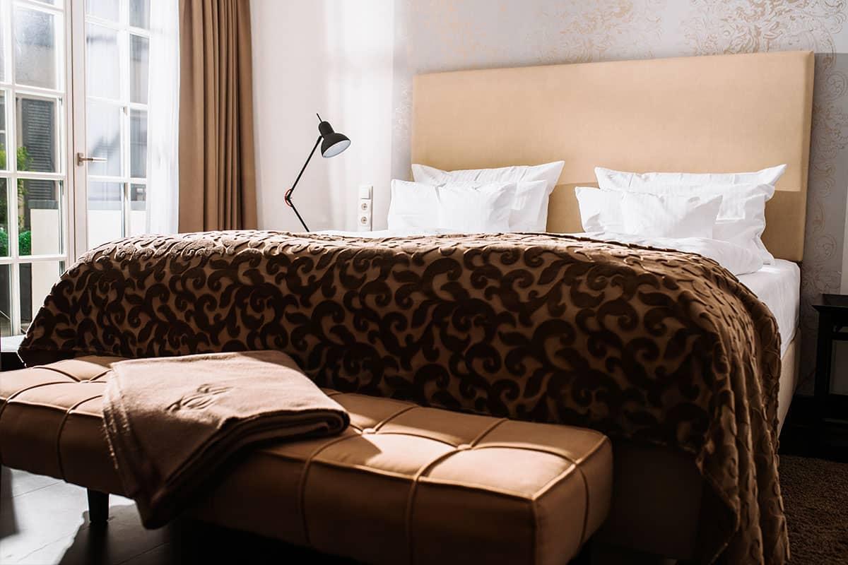 Fühlen Sie sich wie Zuhause: Unsere Doppelzimmer bieten Ihnen einen gehobenen Standard der Extraklasse